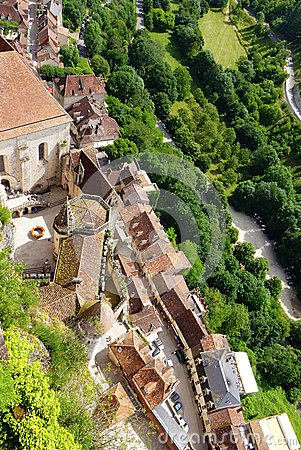 Rocamadour, France - aerial view