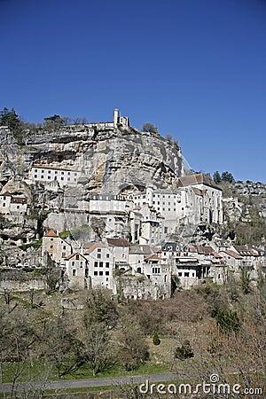 Rocamadour neergestreken dorp