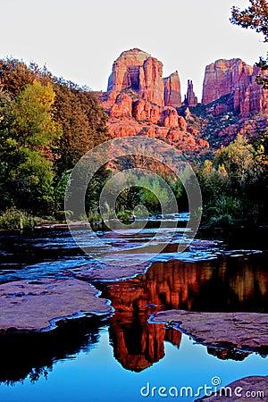 Rocha da catedral, Sedona o Arizona