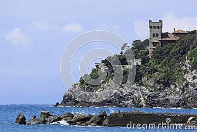 Roche italienne de la Riviera