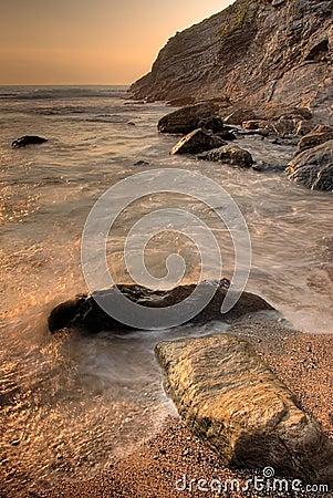 Roches en mer