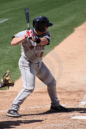 Rochester Red Wings batter Steve Holm Editorial Photography