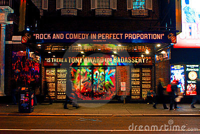 Rock of Ages Broadway Musical, Manhattan, NYC Editorial Photo
