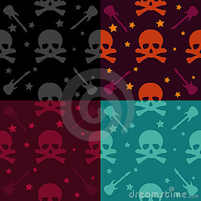 Free Rock And Roll Pattern Royalty Free Stock Photography - 10700807