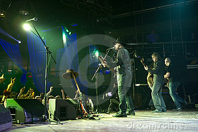 Rock band concert Editorial Stock Image