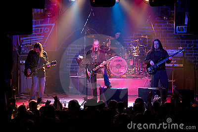 Rock band concert in night club Editorial Stock Photo