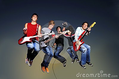 Rock band jumping