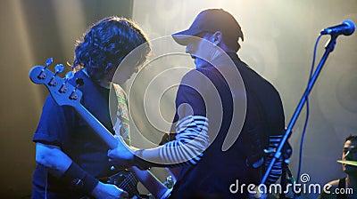 Rock band members Editorial Photo