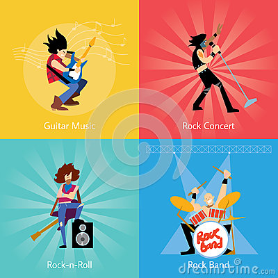 Rock band music group vector illustration Vector Illustration