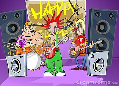 Rock band says happy birthday
