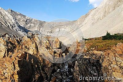 Rock basin and creek