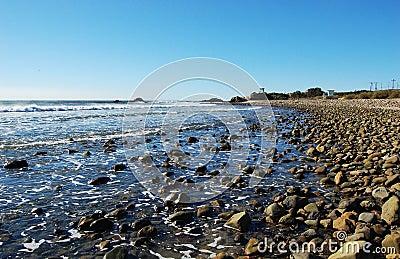 Rock Beach in Malibu, California, USA