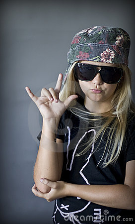 Rock Blond Girl