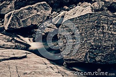Rock in brook