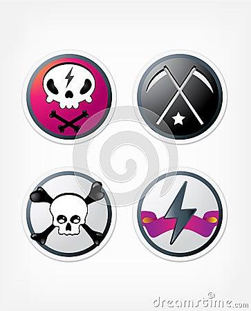 Rock buttons