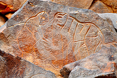 Rock Carving of Elephant