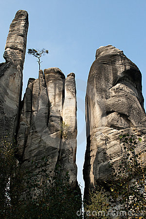 Free Rock City, Aderspach Rocks In The Czech Republic. Royalty Free Stock Photos - 13125768