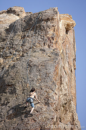 Rock Climber Editorial Stock Image
