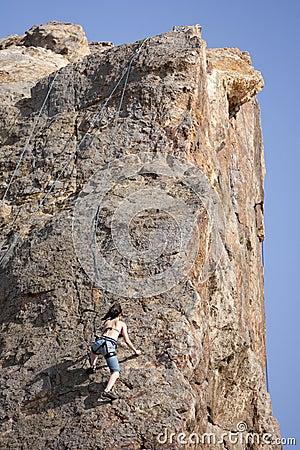 Rock Climber Editorial Stock Image