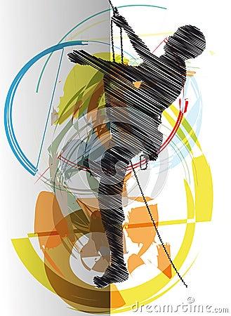 Rock climber illustration
