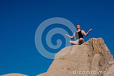 Rock Climber Meditation