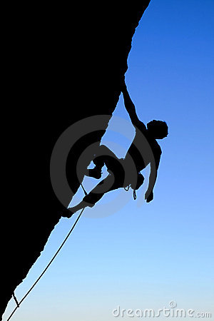 Free Rock Climber Silhouette Royalty Free Stock Images - 8254659