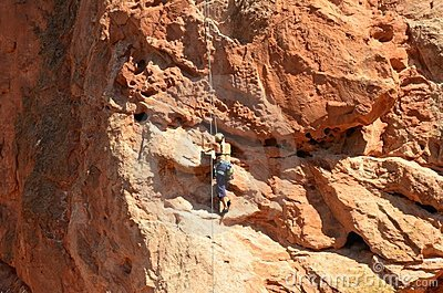 Rock Climbing Editorial Stock Image