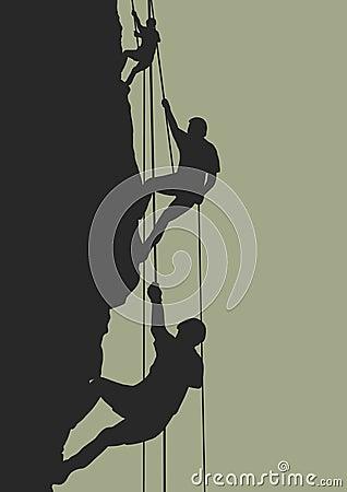 Free Rock Climbing Team Stock Photography - 782622
