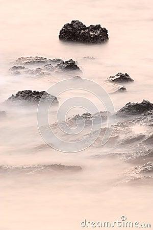 Rock coast background