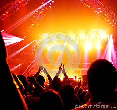 Rock concert Editorial Image