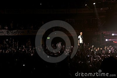Rock concert in Italy Editorial Stock Photo