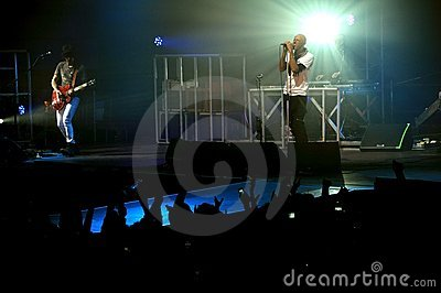 Rock concert in Italy Editorial Stock Image