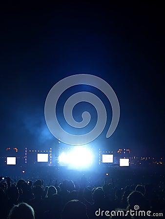 Rock concert light flare