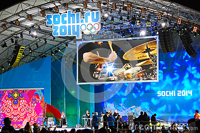 Rock concert at XXII Winter Olympic Games Sochi Editorial Image