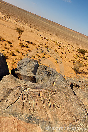 Rock Engravings Near Wadi Mathendous (UNESCO)
