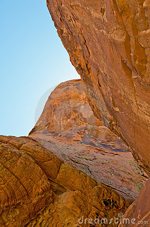 Rock face in Valley of Fire