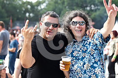 Rock fans at Tuborg Green Fest Editorial Photo