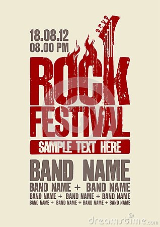 Free Rock Festival Design Template. Stock Images - 31550924