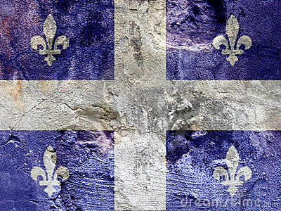 Rock flag of Quebec