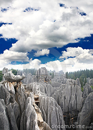 Rock forest near Kunming city