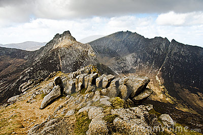 Rock formation on Goatfell