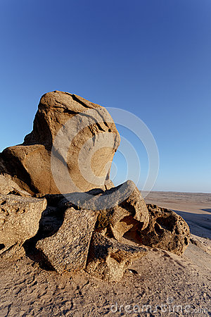 Free Rock Formation In Namib Desert In Sunset, Landscape Royalty Free Stock Images - 56140139