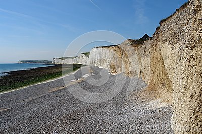 Rock formation named Seven Sisters near Newhaven