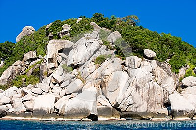 Rock formations along the coast