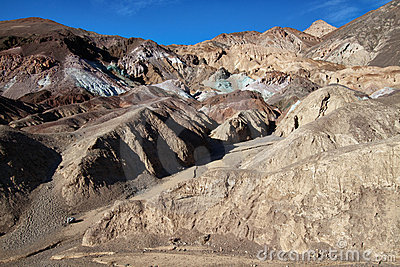 Rock formations in death valley national park