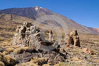 Rock formations and Mount Teide