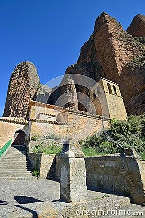 Rock formations near Huesca Stock Photo