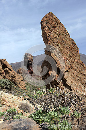 Rock formations at Pico del Teide