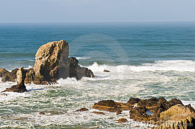 Rock formations on seacoast