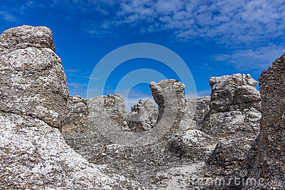 Rock formations on the Swedish coastline